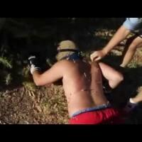 Maluco se deu mal ao pular em cactos