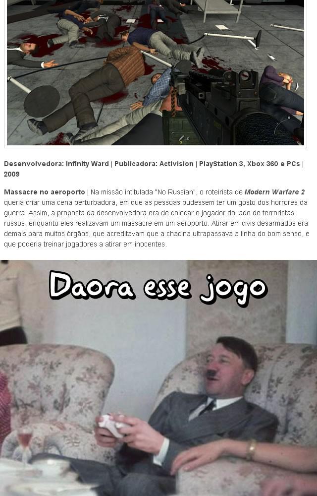 Hitler jogava Call of Duty