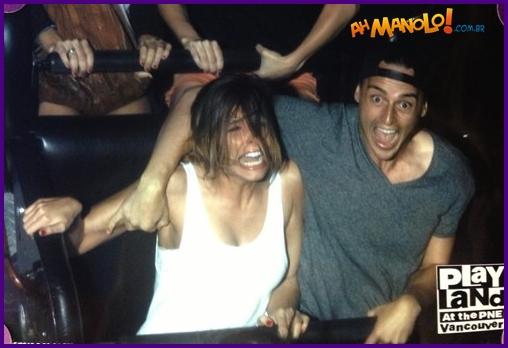 A reação da sua namorada ao levar ela pela primeira vez na montanha russa!
