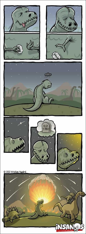 A história do tiranossauro emo...