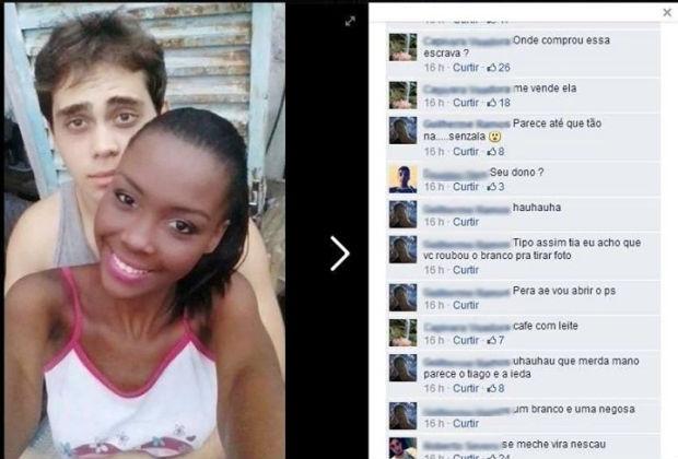 Jovem negra posta foto com namorado branco e sofre racismo no Facebook!