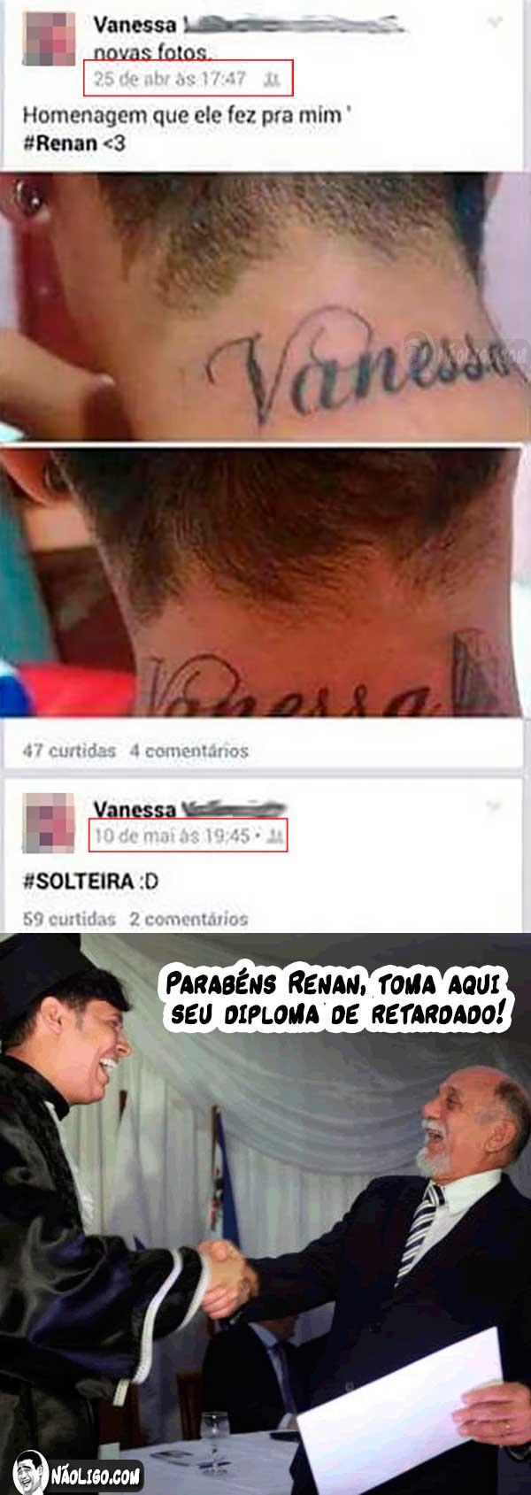 Esse escolheu a mulher errada para homenagear com uma tatuagem…