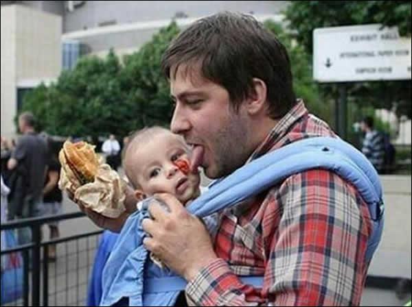 Às vezes não dá pra confiar muito no pai...