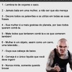 10 mandamentos de um macho
