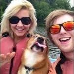 Cachorro engraçado na foto