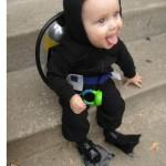 bebe mergulhador